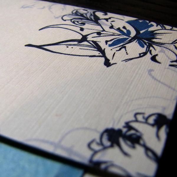 Wedding Invitation - Tropical Lily Detail
