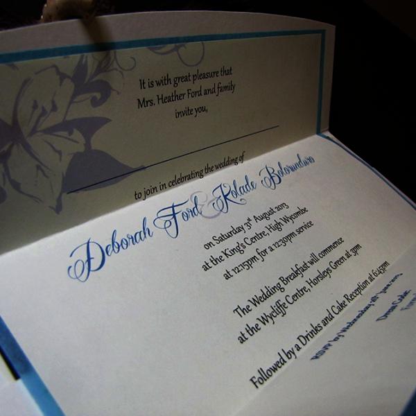 Wedding Invitation - Tropical Lily Inside
