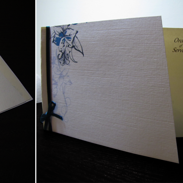Wedding Stationery - Order of Service Tropical Lily