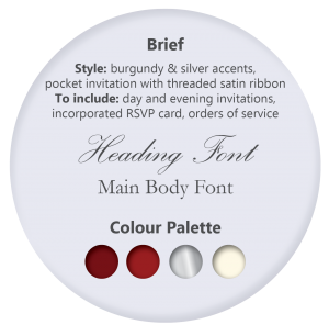 Wedding Stationery Theme - Swirl Infusion Burgundy Pocket Style