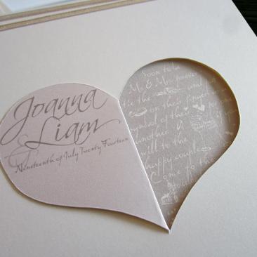 Wedding Invitations - Sweethearts Theme