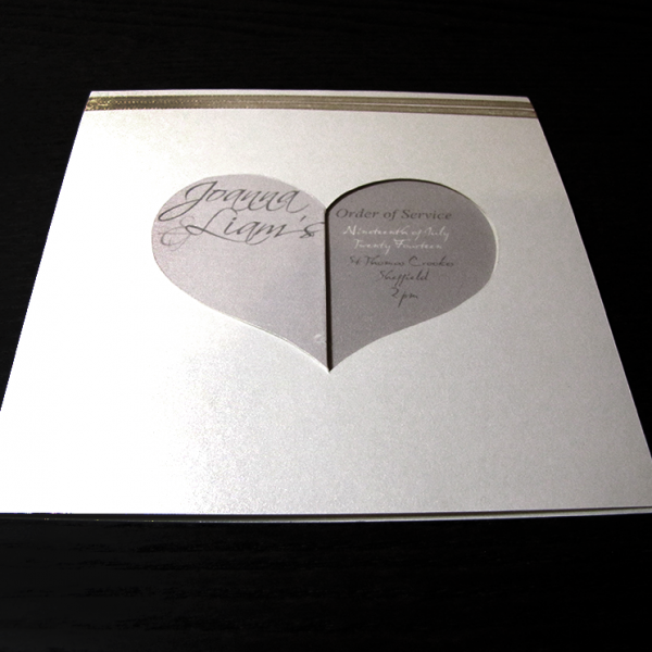 Wedding Stationery - Sweethearts Orders of Service